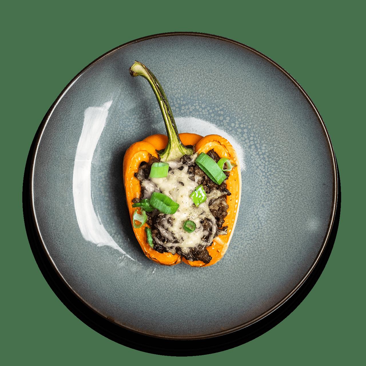 tostibanaan-gevulde-oranje-paprika-gehakt