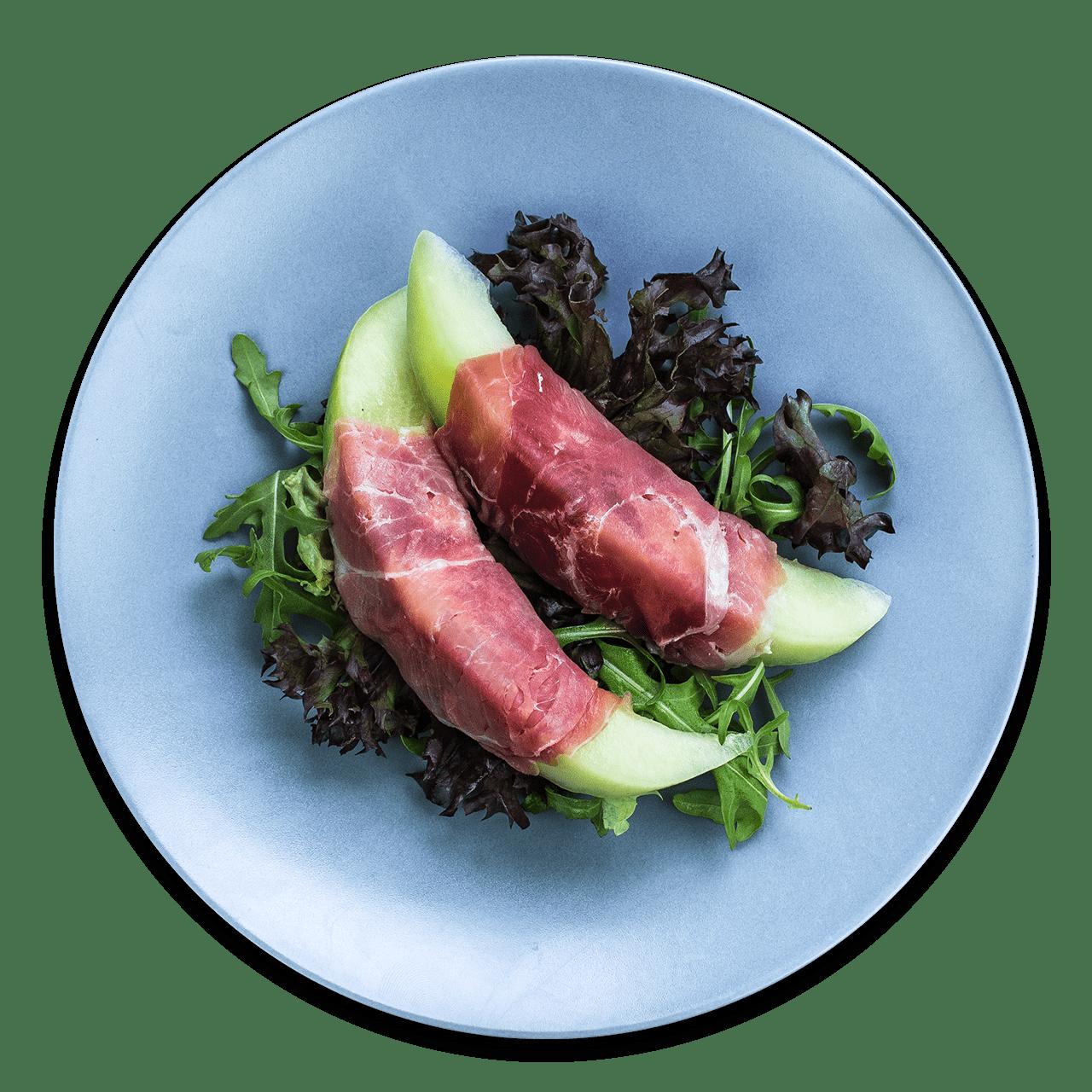 tostibanaan-meloen-serranoham