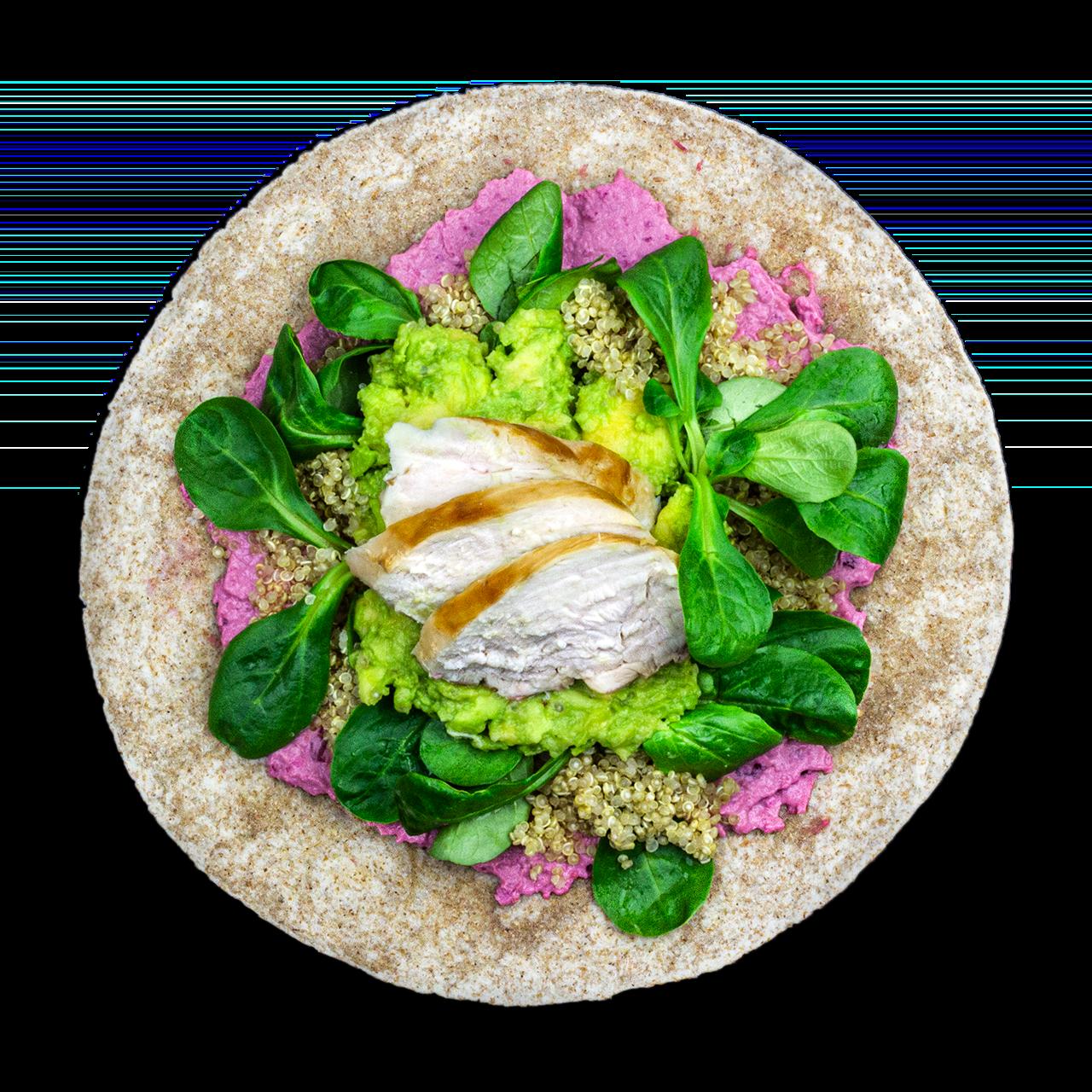 tostibanaan-rodebieten-hummus-quinoa-kip-avocado